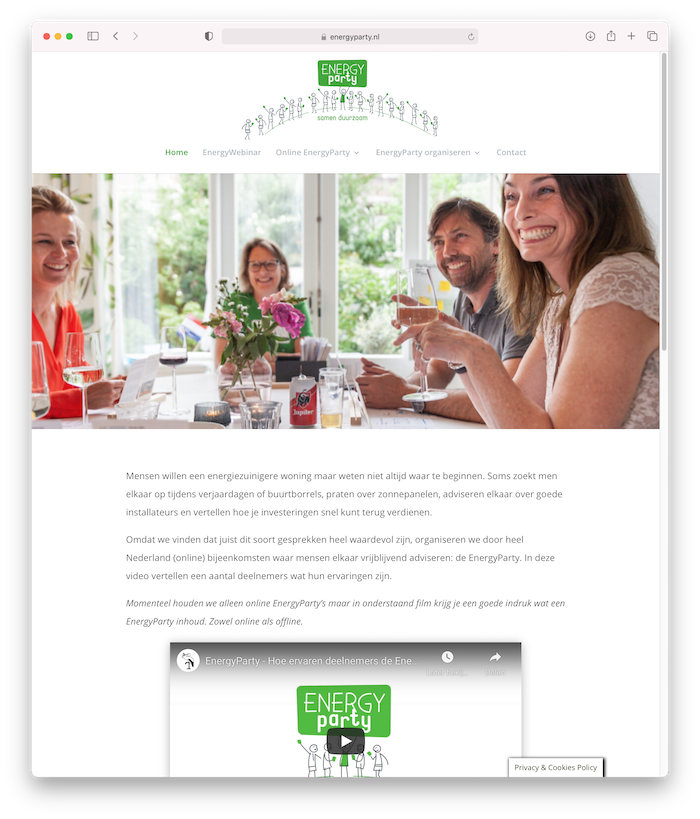 Website EnergyParty