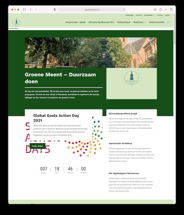 Website Groene Meent